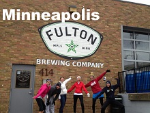 City Running Tours at Fulton Brewery, Minneapolis