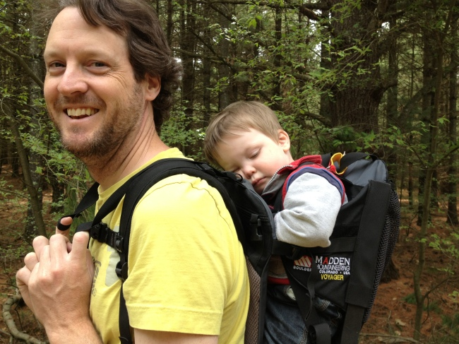 toddler travel in backpack