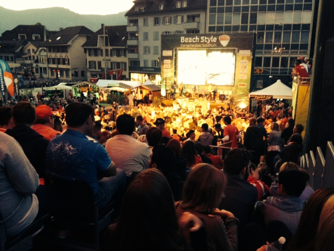 Switzerland World Cup win, watching in Solothurn
