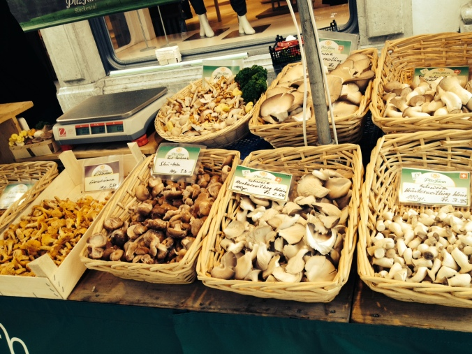Mushrooms at the Solothurn market
