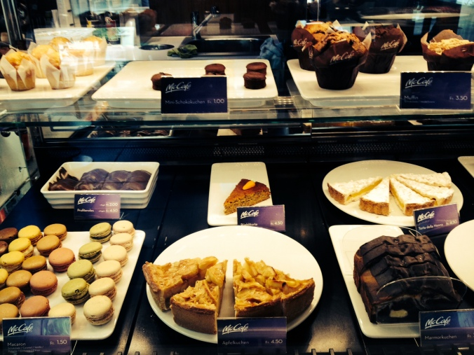 McCafe desserts in Switzerland