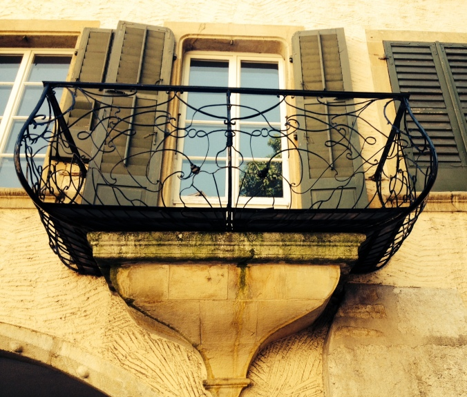 Balcony detail in Biel/Bienne