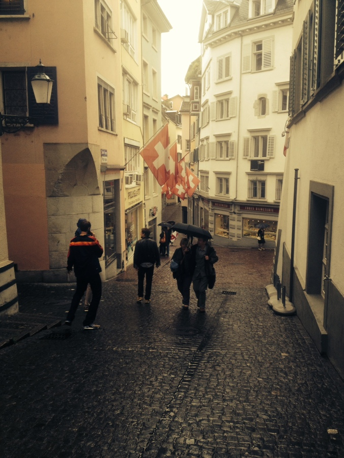 walking through Zurich