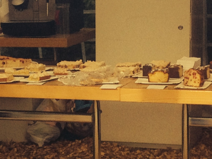 Swiss bake sale table in Zuchwil