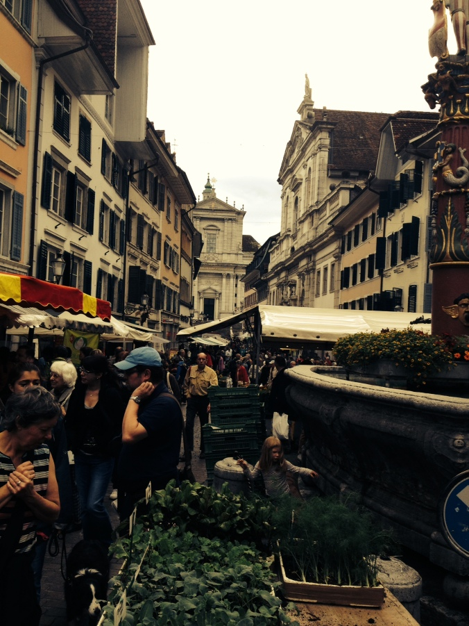 Market day in Solothurn Switzerland