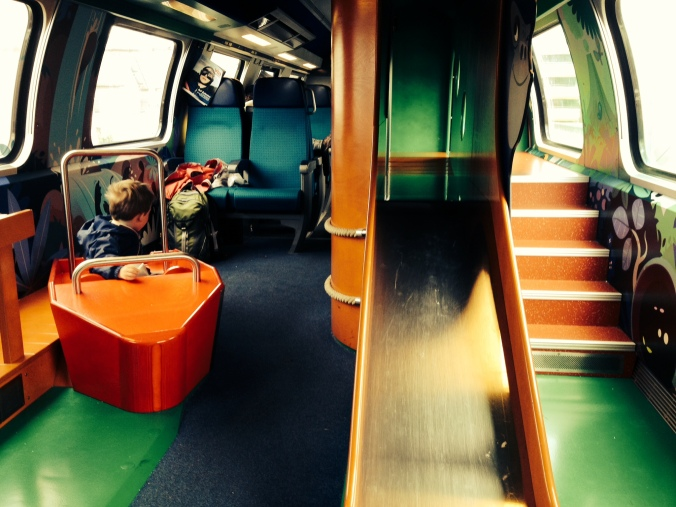 Playground on the Switzerland train