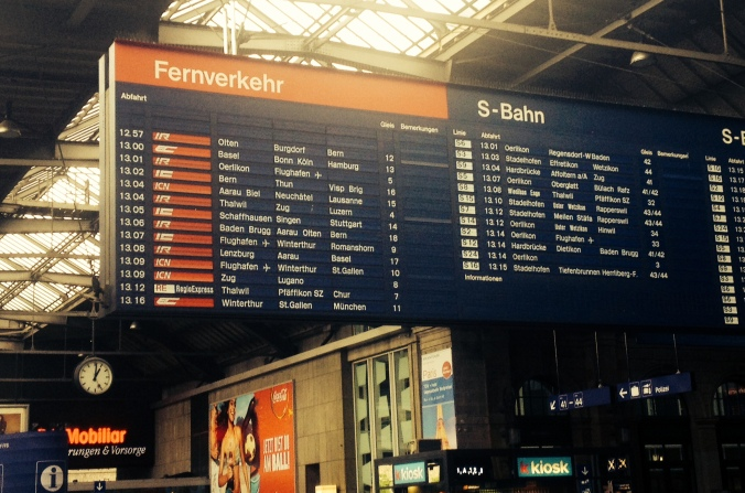 Swiss train schedule