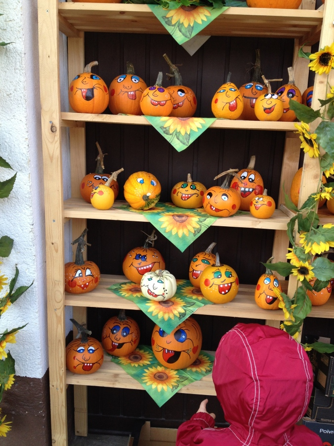 Decorated pumpkins in Altendorf