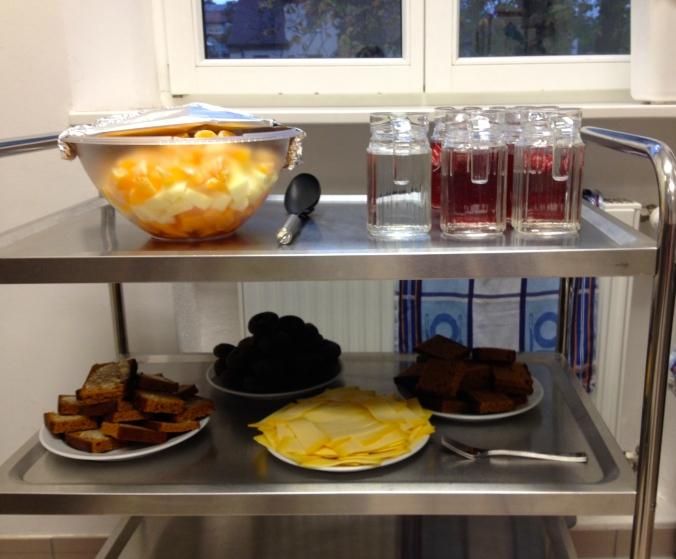 Birthday breakfast in German Kindergarten